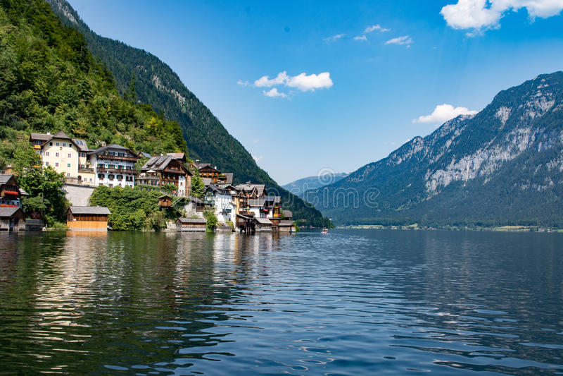 Hallstatt Austria settentrionale fotografia stock libera da diritti