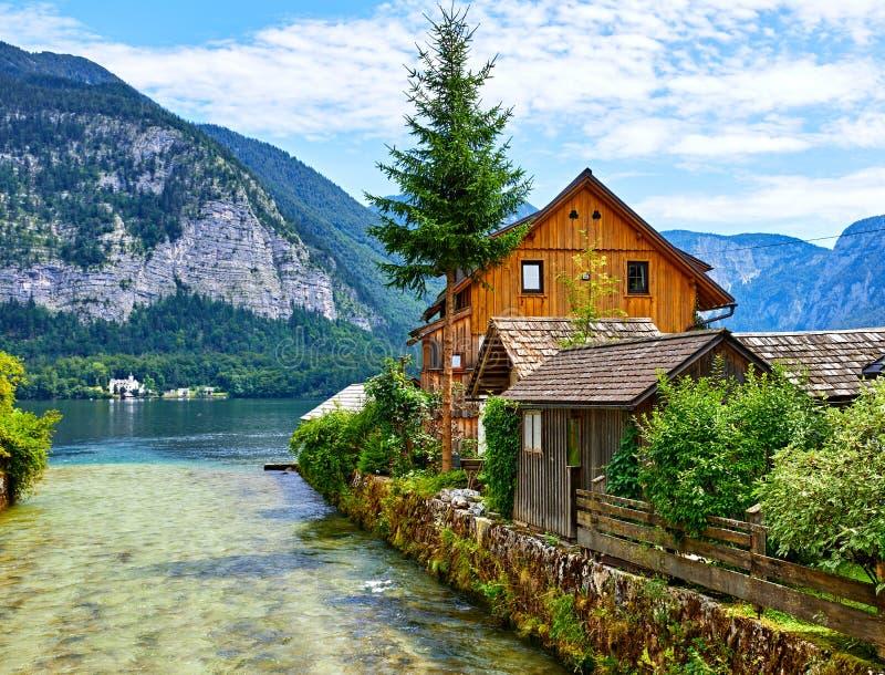 Download Hallstatt Austria Traditional Wooden Austrian House Stock Image