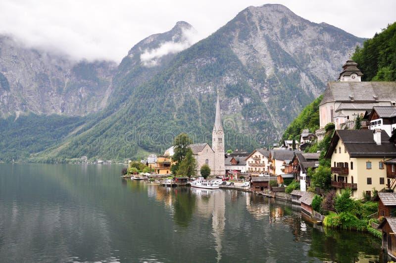 Hallstatt en Austria Otoño imagen de archivo