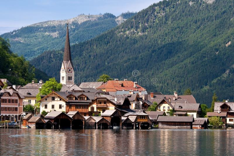 Hallstatt hermoso en Austria fotos de archivo
