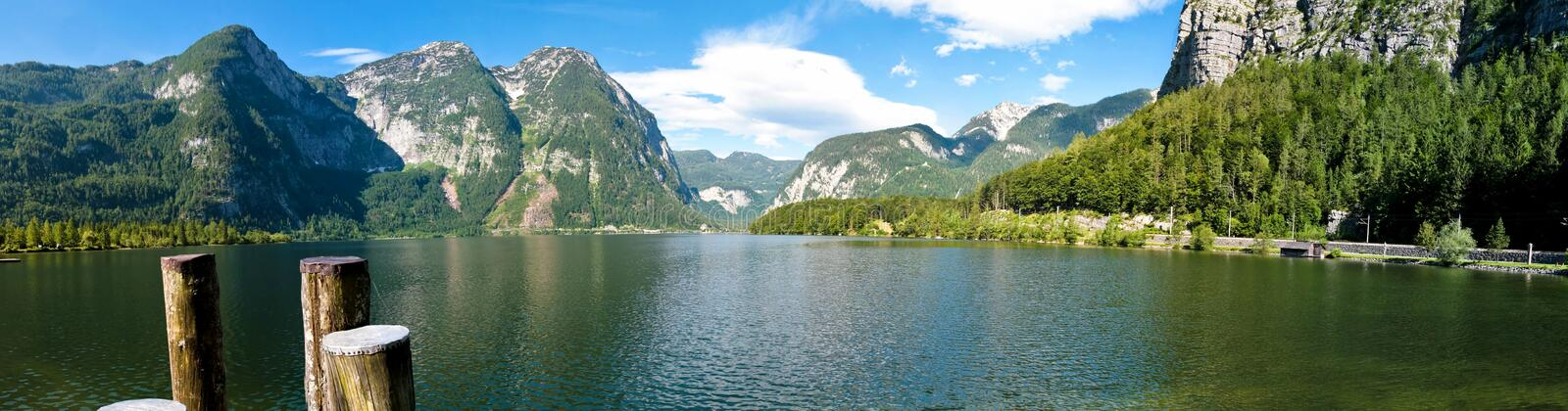 Download Hallstatt lake panorama stock photo. Image of forest - 10024006