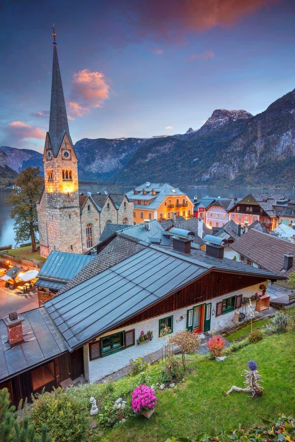 Hallstatt, Oostenrijk stock foto