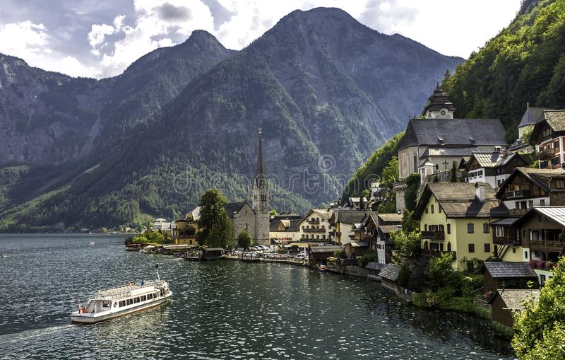 Hallstatt un pueblo alpino en Austria fotos de archivo libres de regalías
