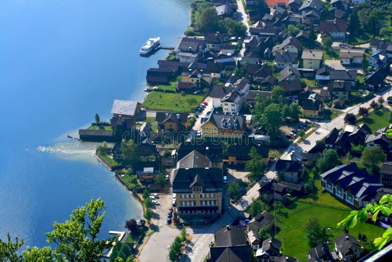 Hallstatt village stock photo