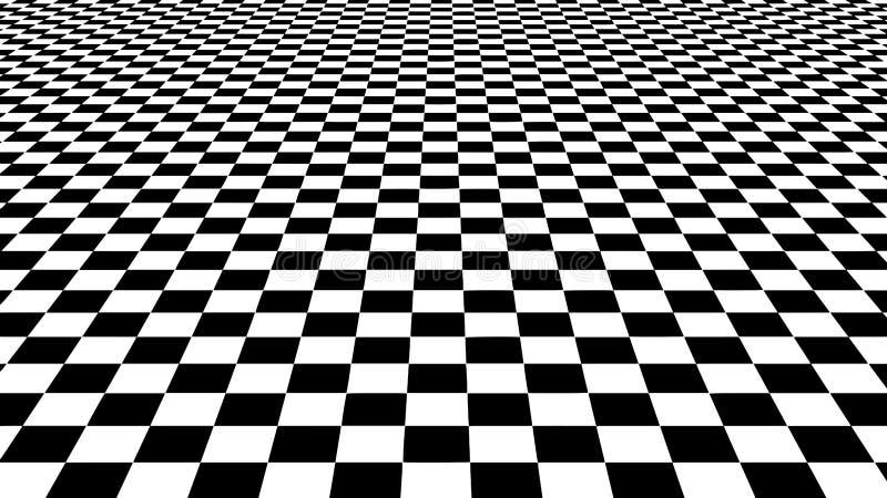 hallucination Ilus?o ?tica Ilustração torcida Fundo abstrato dos quadrados Grade da perspectiva do vetor ilustração stock