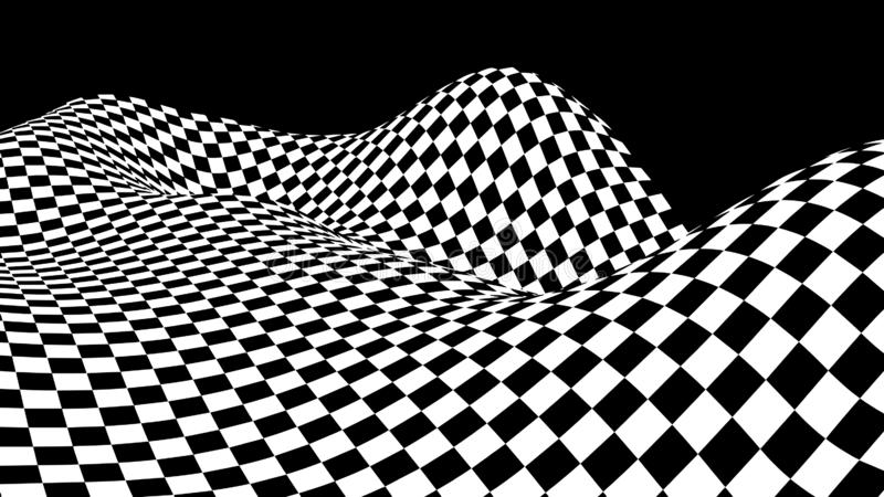 hallucination Ilus?o ?tica Ilustração torcida Fundo futurista abstrato dos quadrados Onda din?mica Vetor ilustração do vetor