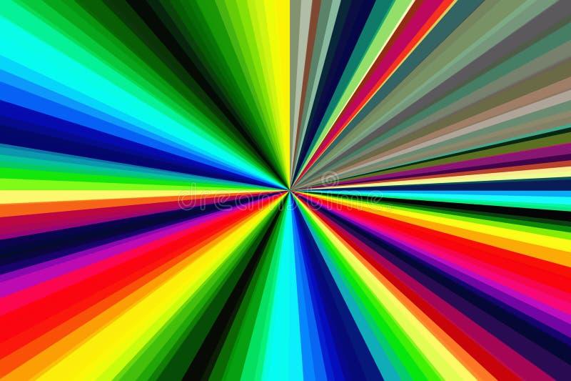 Hallucinogen fluorescente achtergrond van surreal kleuren Abstract illusiethema psychedelisch effect LSD-effect vector illustratie