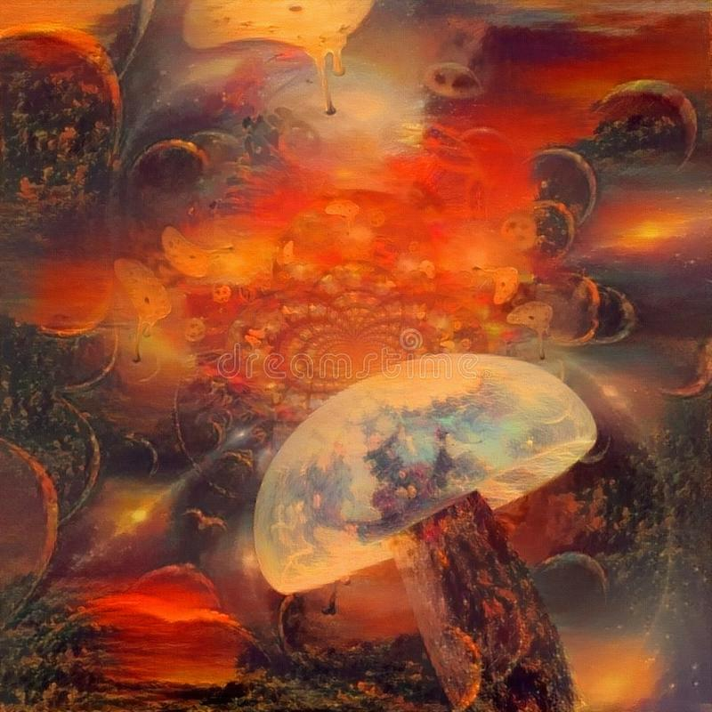 hallucinogenic pieczarka ilustracji