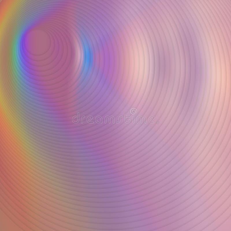Hallucinoget psykedeliskt m?ngf?rgat f?r hypnotisk fantasi räkningshologram royaltyfri illustrationer