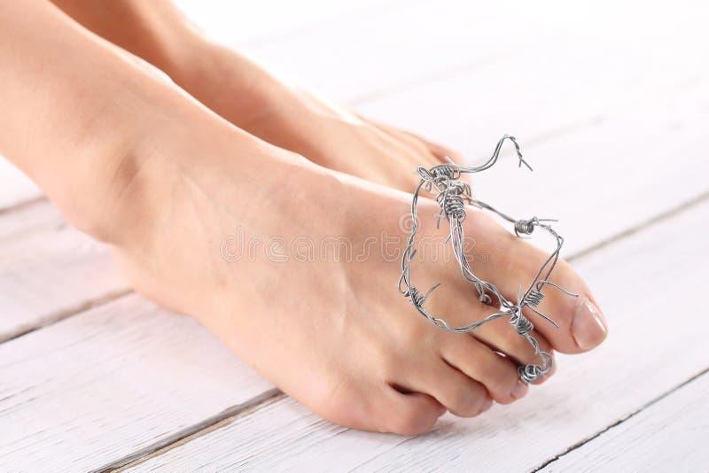Hallux,酸疼的脚 免版税图库摄影