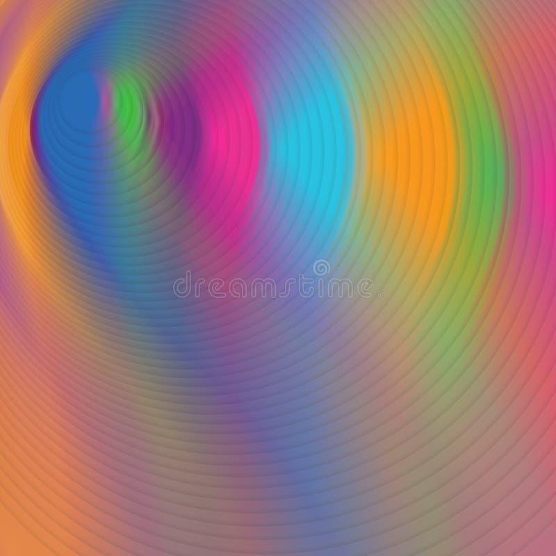 Halluzinogenischer psychedelischer mehrfarbiger hypnotischer Hintergrund Muster vibrierend vektor abbildung