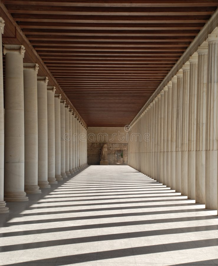 Free Hallway And Columns In Athens, Greece Royalty Free Stock Images - 3657159