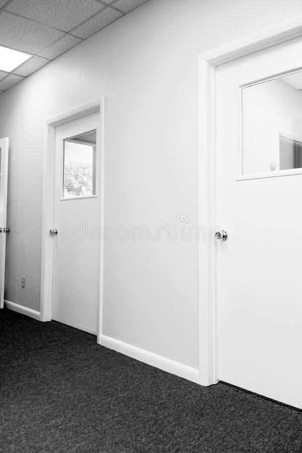 Hallway With Closed Doors Royalty Free Stock Photography