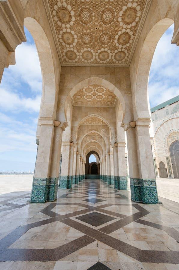 Hallway Hassan II Mosque, Casablanca stock images