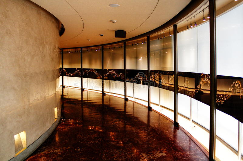 Hallway - Griffith Observatory, Los Angeles, California royalty free stock photo