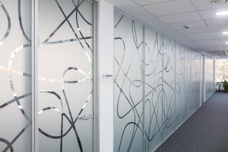 Download Hallway in office building stock image. Image of counter - 88442583