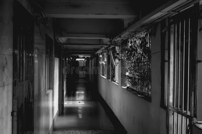 Old residentia building in Kowloon Hong Kong China royalty free stock photos