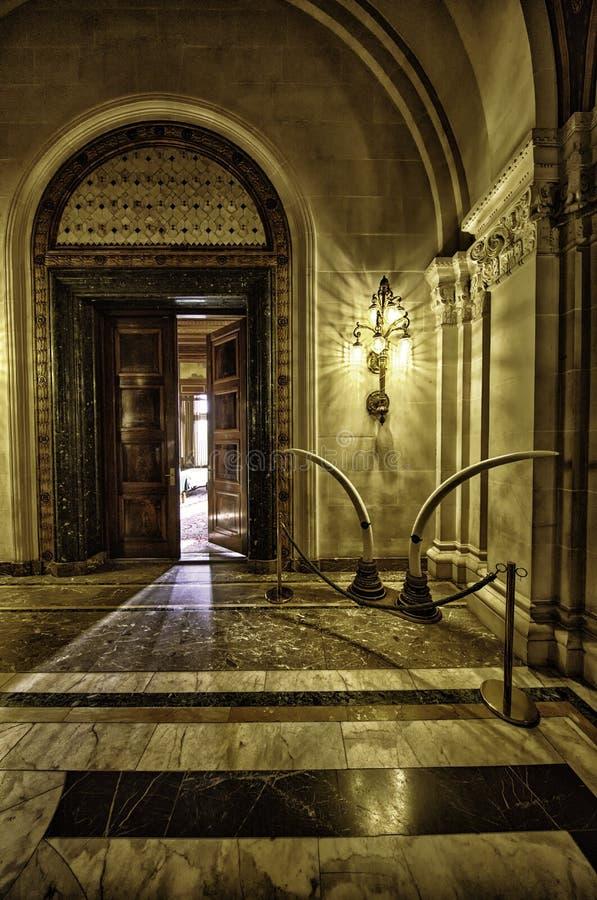 Hallway at the Peace Palace stock photos
