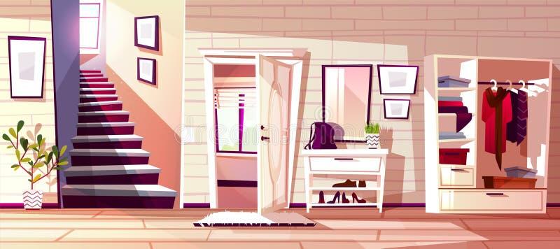 Hallway room interior vector illustration stock illustration