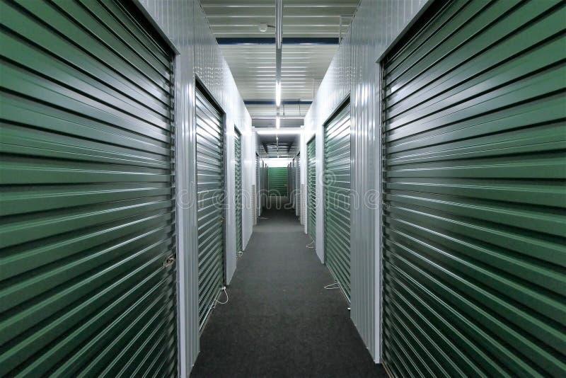 Hallway storage units royalty free stock images