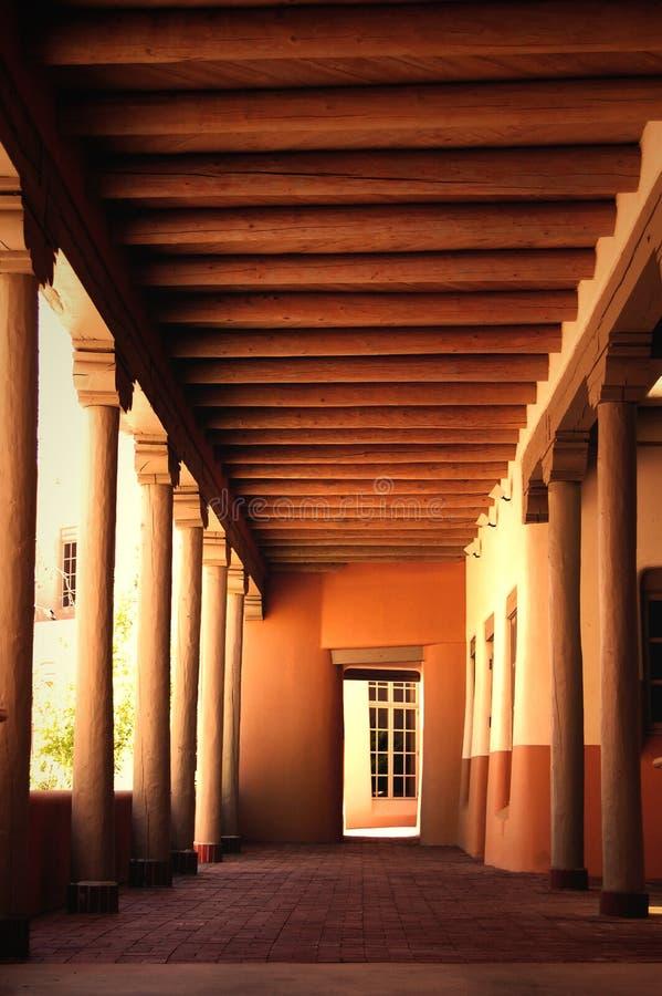 Hallway with Vigas stock image