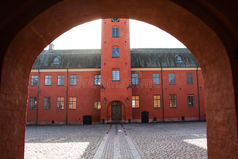 Halmstad kasztel Szwecja fotografia stock