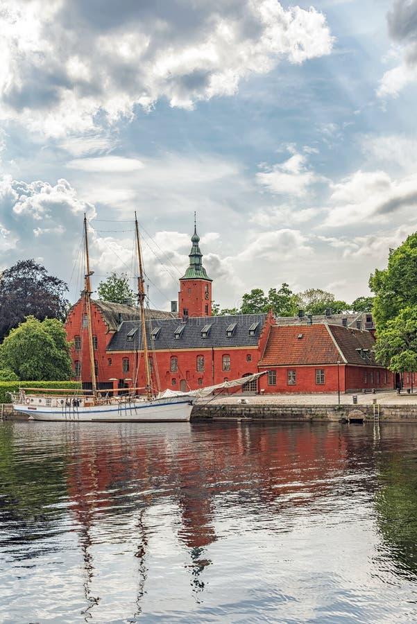 Halmstad kasztel w Szwecja obrazy stock