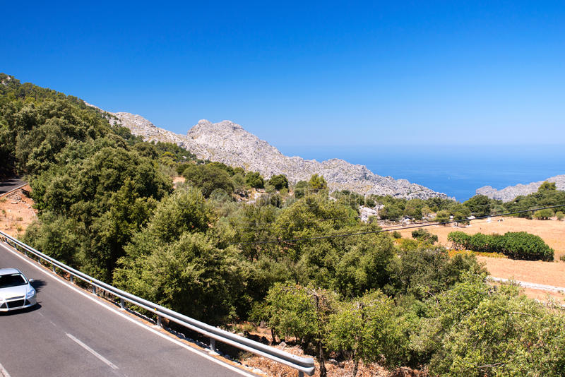 Halna autostrada na Mallorca obrazy stock