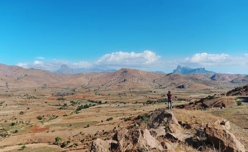 Halna dolina na wyspie Madagascar zdjęcie royalty free