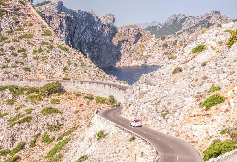 Halna Droga Nakrywający De Formentor, Majorca fotografia stock