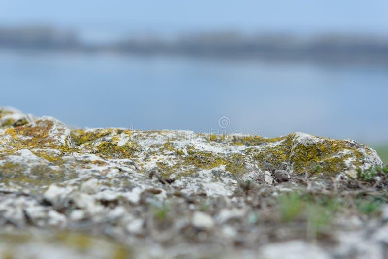 Halna faleza i piękny Volga rzeki wąsy zdjęcia royalty free