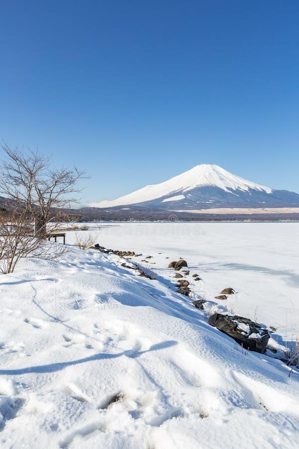 Halna Fuji zima zdjęcia stock