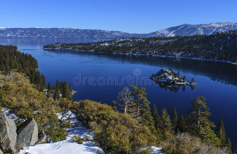 Halna Jeziorna Tahoe szmaragdu zatoka zdjęcia stock