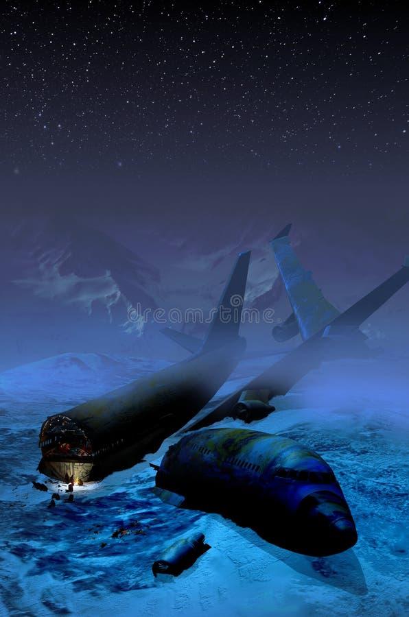 Halna katastrofa samolotu royalty ilustracja