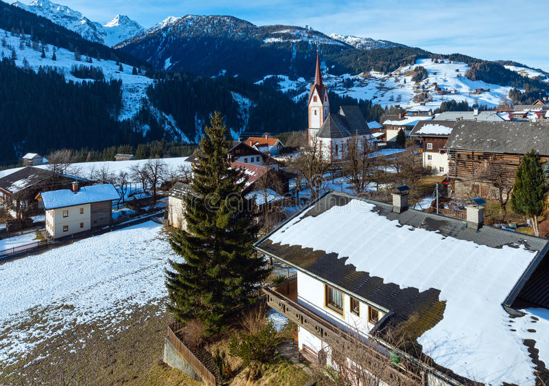 Halna Liesing wioska w Lesachtal (Austria). obrazy royalty free