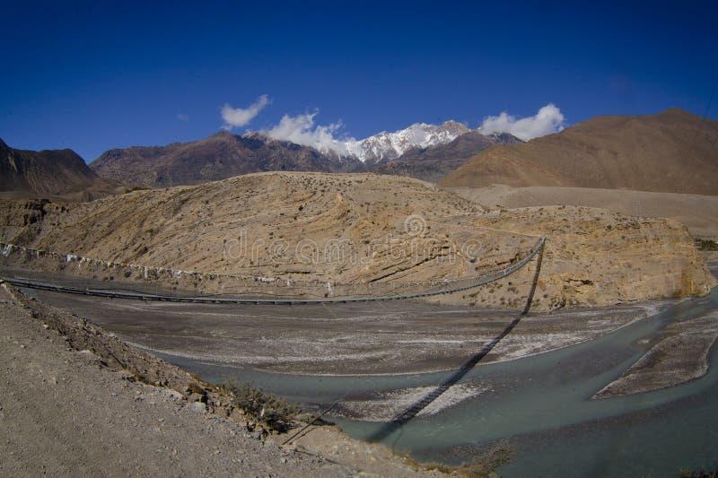 Halna Nepal rzeka obraz royalty free