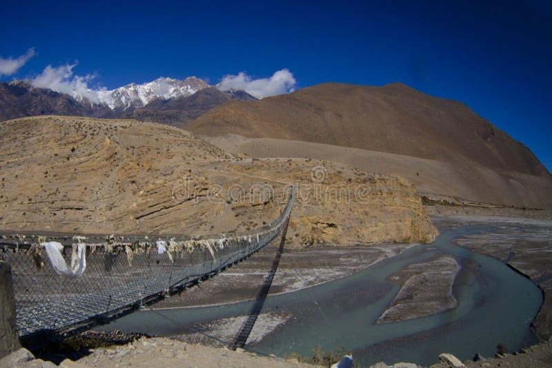 Halna Nepal rzeka obrazy royalty free