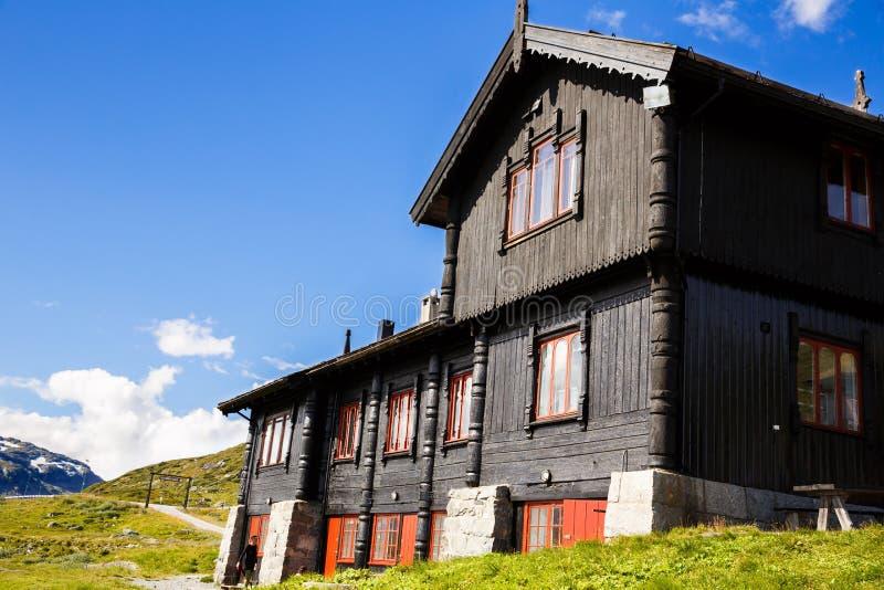 Halna restauracja w Norwegia fotografia stock