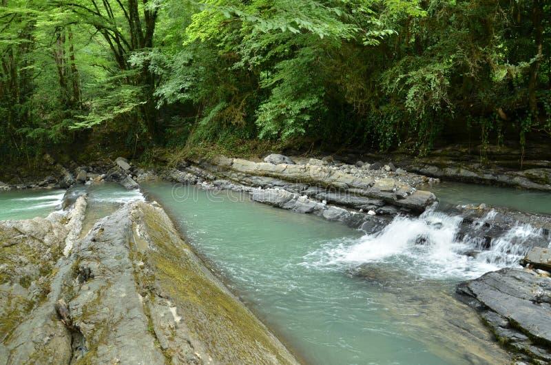 Halna rzeka w Krasnodar Krai fotografia stock