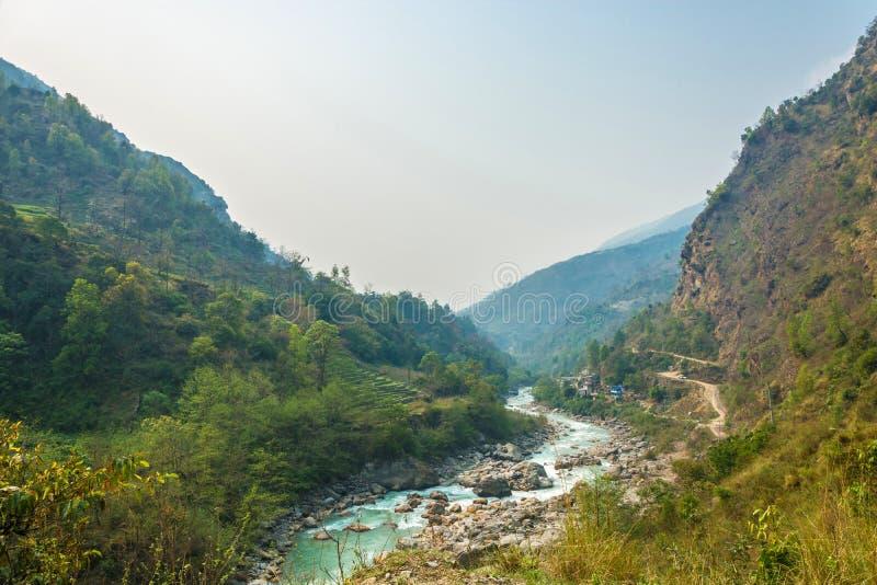 Halna rzeka w Nepal zdjęcie royalty free