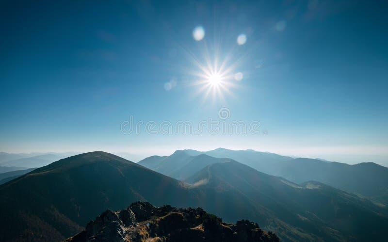 Halna wzgórze panorama Krajowa natury rezerwacja Mala Fatra zdjęcie stock