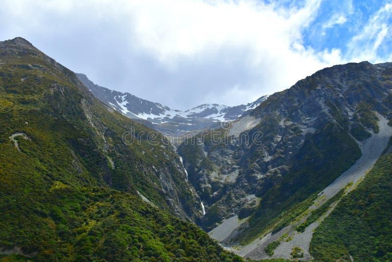 Halne doliny w Mt Cook parku narodowym zdjęcia royalty free