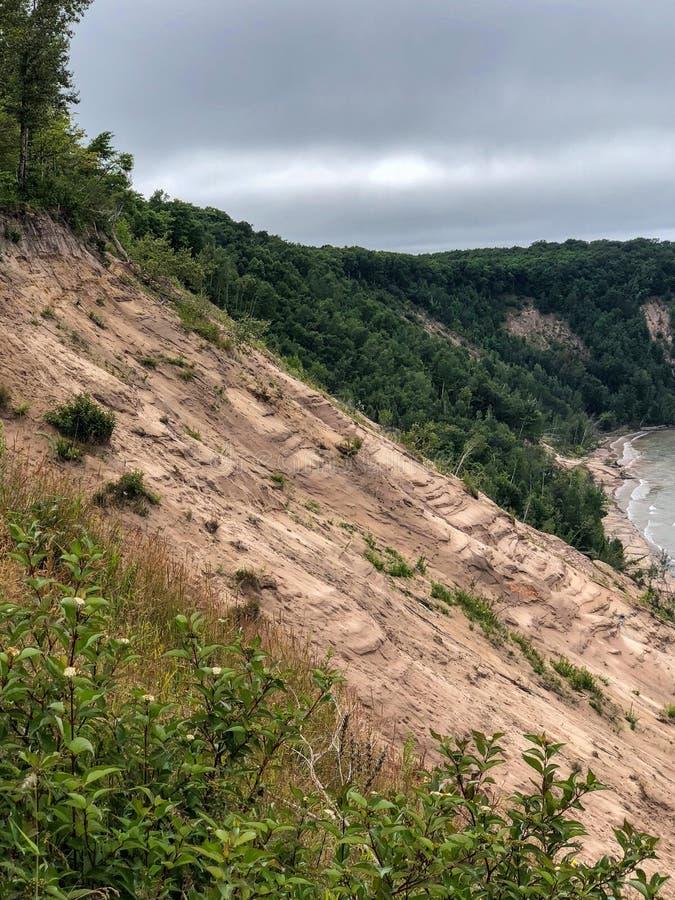 Halne piasek diuny przy Indiana stanu parkiem obrazy royalty free