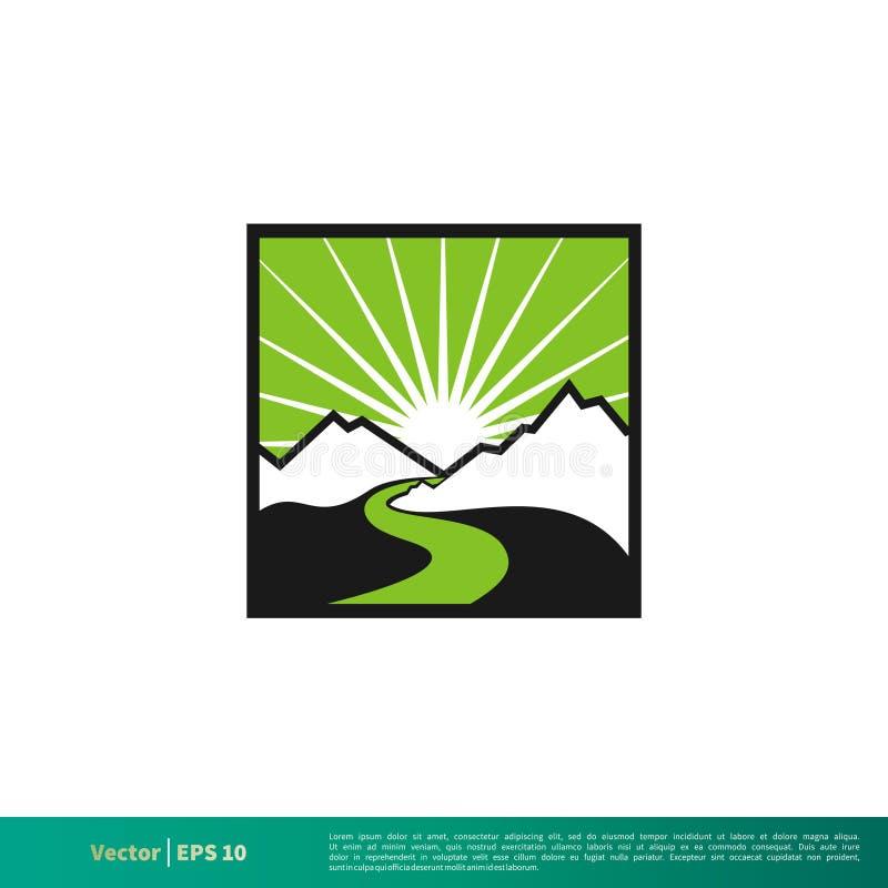 Halnego i Rzecznego odznaki ikony logo Wektorowego szablonu Ilustracyjny projekt Wektor EPS 10 ilustracji