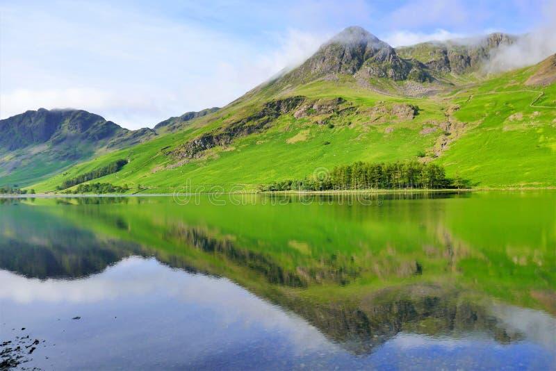 Halni odbicia, Cumbria, UK obrazy royalty free