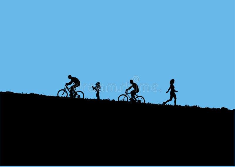 Halni rowerzyści ilustracji