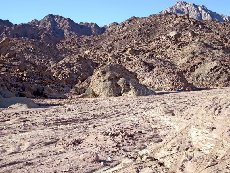 halny czerwony Sinai obrazy stock