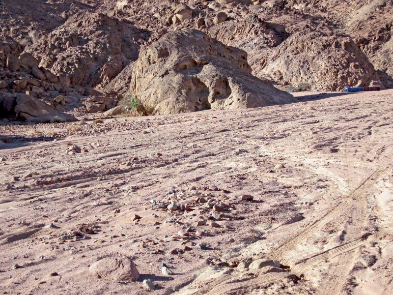 halny czerwony Sinai zdjęcia stock