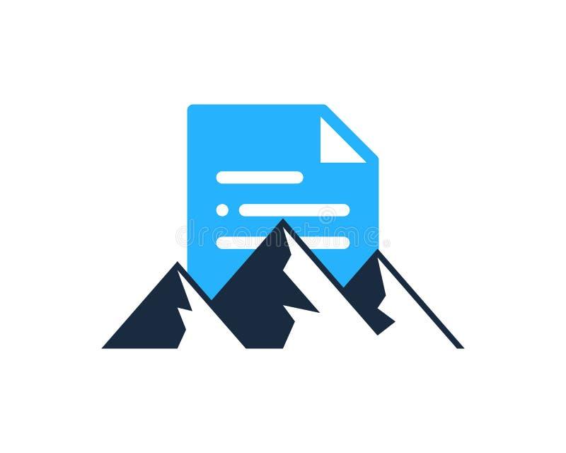 Halny dokument ikony loga projekta element ilustracja wektor