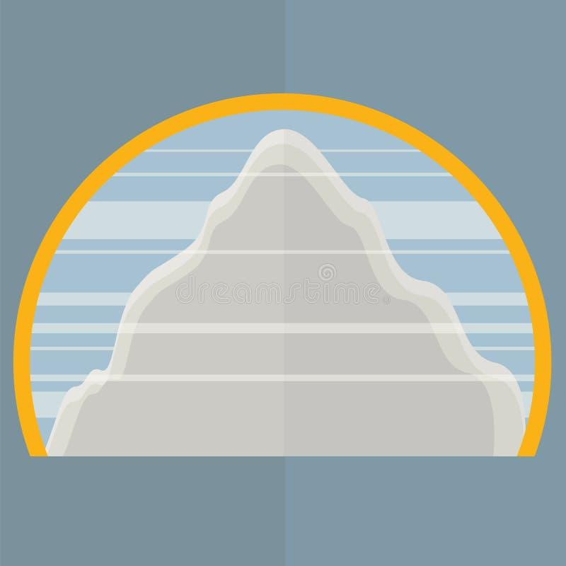 Halny Everest projekta Płaski obrazek ilustracji